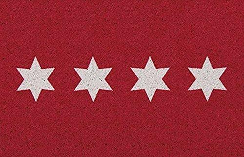 Bavaria Home Style Collection Tapis de Cuisine/Tapis de Cuisine/de Cuisine/de Cuisine/de Cuisine/de Cuisine/d'étoiles – Rouge – 65 x 110 cm
