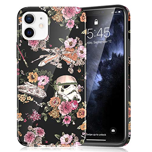 ZQ-Link Compatible with iPhone 12 Mini Case (2020), Lightweight Soft TPU Protective Case Cover for iPhone 12 Mini (5.4 Inch) - Star Wars