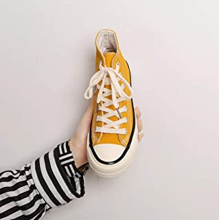 XL_nsxiezi Altos Zapatos de Lona Altos Retro Zapatos de los Estudiantes Casuales