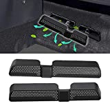 RunY Car Air Outlet Cover Auto Style 2pcs / Set de asiento trasero antipolvo con ventilación Car Vent Cover para Skoda Kodiaq 2016 2017 2018
