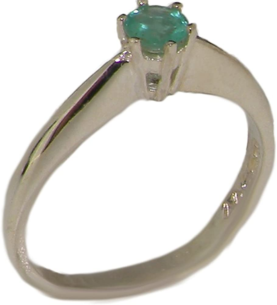 925 Sterling Silver Real Genuine Solitaire Engage Emerald 送料無料 激安 ついに入荷 お買い得 キ゛フト Womens
