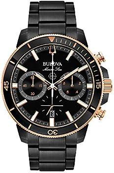 Bulova Marine Star Chronograph Black Dial Men's Watch