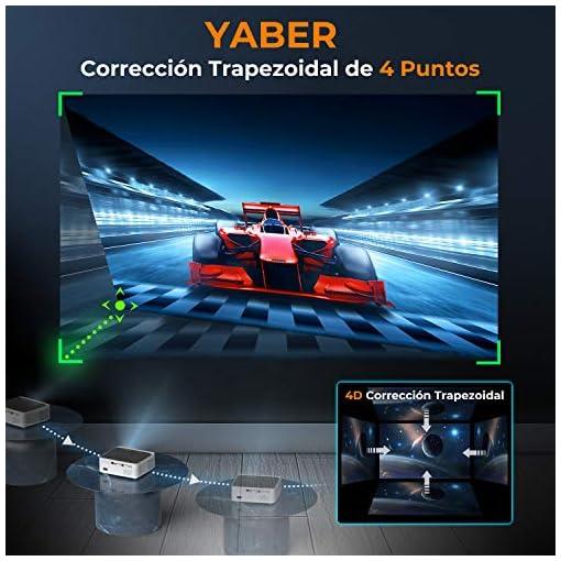 Proyector WiFi Bluetooth 1080P, YABER V6 7600 Lúmenes Proyector WiFi Full HD 1080P Nativo Soporta 4K, Ajuste Digital de… 5