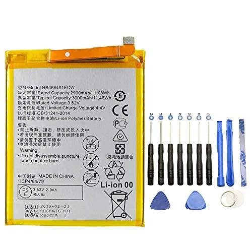 Batterie HB366481ECW pour Huawei P9 - P9 Lite - P10 Lite - P20 Lite - Y6 2018 - Honor 8 Lite - 9 Lite - 3000 mAh - Adhésif + Kit Outils 13 pièces