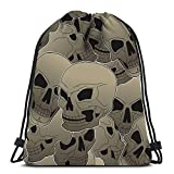 Drawstring Backpack Sport Bags Cinch Tote Bags The Parts Human Skeleton For Traveling and Storage