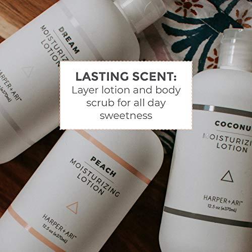 Harper + Ari Moisturizing Body Lotion, Daily Hydrator for Dry Skin, Soften and Nourish Skin with Aloe Vera and Vitamin E (Coconut)