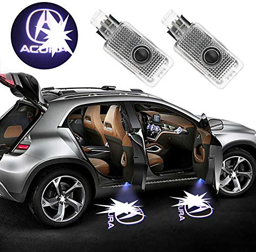Grolish Car Door Logo Projector Car Door Step Courtesy Light For Acura RLX/ZDX/TLX/TL (2-Pack)
