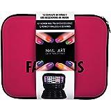 Gloss - caja de maquillaje, caja de regalo para mujeres - Establecer Esmalte de uñas - cojín de maquillaje fabuloso - 58 piezas
