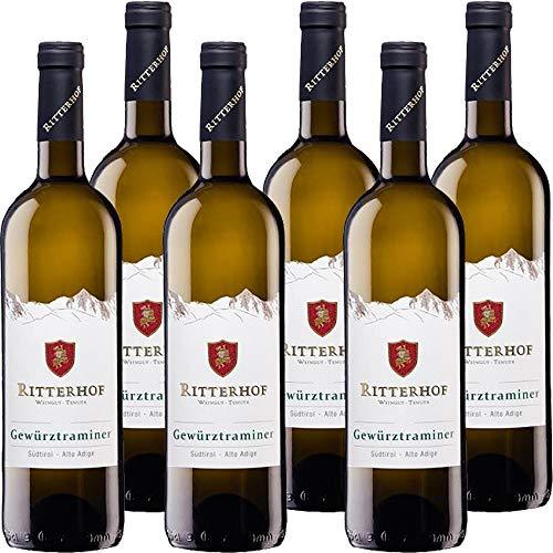 Gewurztraminer Ritterhof   Alto Adige DOC   Vino Bianco Altoatesino   Trentino   6 Bottiglie da 75 Cl   Idea Regalo