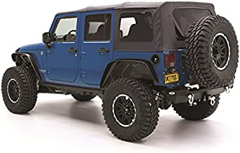 Smittybilt 9080235 Black Diamond Replacement Top with Tinted Side Windows for Jeep JK 4-Door