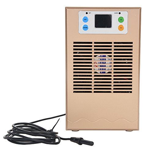 Focket Termostato del Acuario, Ventiladores incorporados Enfriador de Agua para Tanque de Peces Enfriador de Agua Duradero, Silencio y bajo Consumo para acuicultura, etc. (Enchufe de la UE)(70W)