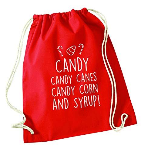 Flox Creative Beutel mit Kordelzug für Zuckerstangen Candy Corns, rot