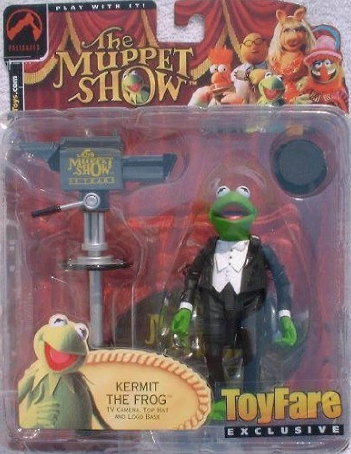The Muppets ToyFare Exclusive Master of Ceremonies Kermit the Frog Action Figure (2002 Palisades Toys)