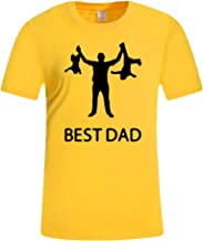Men's Summer Casual Print Short Sleeve T-Shirt Gift for Worlds Best DAD Tops