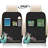 Freddie and Sebbie Kick Mats- Luxury Car Seat Back Protectors 2 Pack, Perfect Backseat Organizer and Seat...