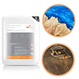 BEKATEQ BK-160EP 2K Epoxidharz Tisch, 3kg mit Härter + 500g Pigmente Anthrazitgrau, Gießharz Tischplatte Holz, Profi Qualität glasklar