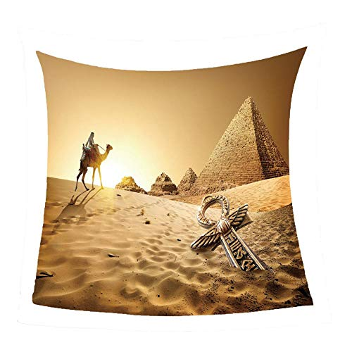 WSSHUIYI Mantas de Franela Bedclothes Camello del Desierto Manta de Bebé Unisex Suave y Cómoda Siesta 3D Microfibra Todas Temporada Cálido Sofás Mantas para Cama Edredón de Retazos-S(130X150CM)
