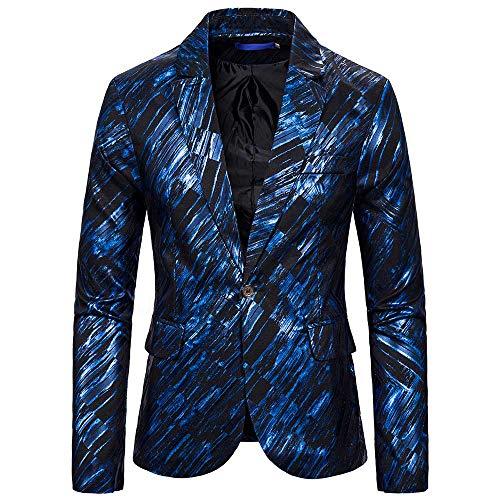 YOUTHUP Heren Blazers Slim Fit Casual Fancy Prints Chic Blazer Jas Bloemen Feestjassen