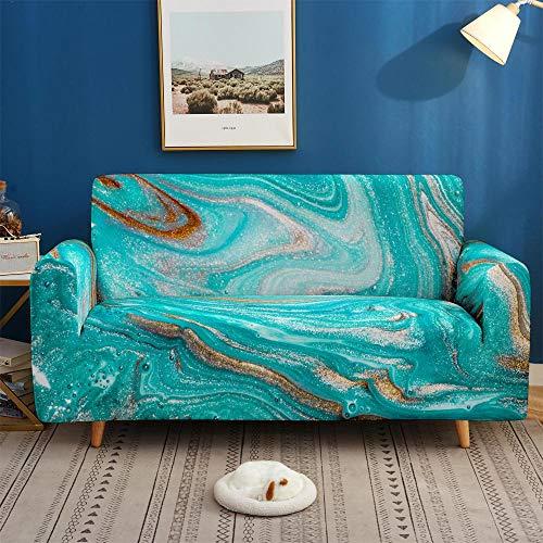 Surwin Sofabezug Sofa Überwürfe 1 2 3 4 Sitzer, Muster Elastische Universal Sofahusse Sofa Abdeckung Stretch Schonbezug Couchbezug für Armlehnen Sofa (Vision,2 Sitzer (145-185cm))