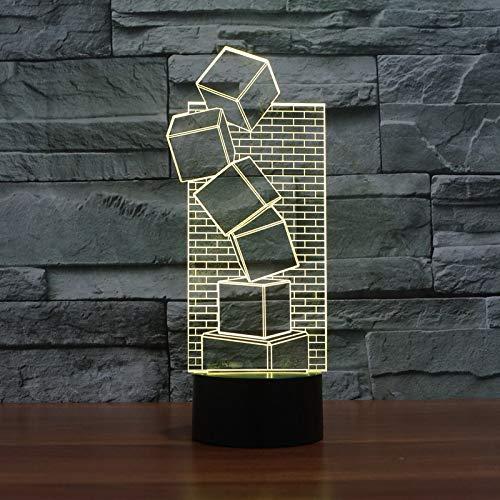 Benvenuti nel negozio LEDXWlight, caratteristiche della lampada a LED 3D:  * Fornisce oltre 50.000 ore di luce intensa * Toccare il pulsante per spegnere, accendere e modificare la visibilità del colore. * Materiale piastra lampada: Acrilico / Materi...