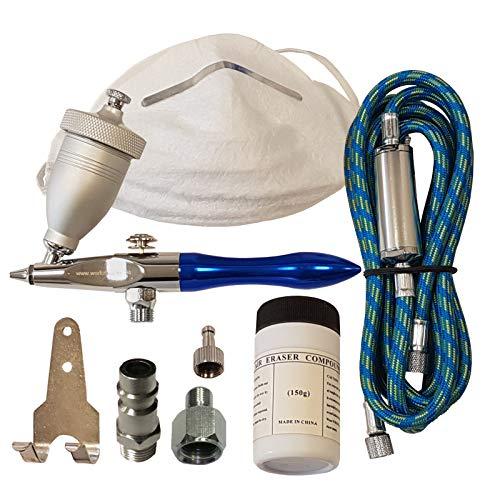 BD-178k | Mini-Sandstrahl-Pistole | Air-Eraser | inkl. Strahlmittel | Modellbau-Sandstrahlgerät | Airbrush
