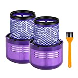 HEYLULU 2pieces Washable Filter with Cleaning Brush for V11 Cyclone Vacuum Cleaner
