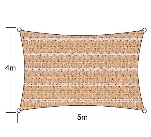 ZJDU Sonnensegel Rechteck/Dreieck Überdachung - Durchlässiger UV-Block Stoff Langlebige Gartenterrasse Im Freien,BlueTriangle3.6x3.6x3.6m