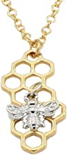 Clearance Necklace, Hoshell Women 's Honeycomb Pendant Polygonal Honeybee Necklace Jewelry Ornament Gift by H-shell (❀ A)