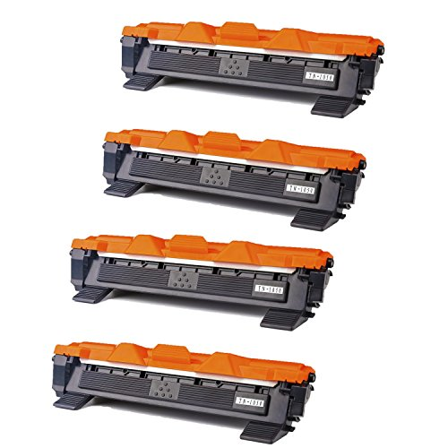 RadTek 4er Pack TN1050 Schwarz Toner Kompatibel zu Brother TN-1050 for Brother MFC-1810 HL-1110 HL-1112 HL-1210W DCP-1510 MFC-1815 DCP-1512 DCP-1610W MFC-1910 MFC-1910W