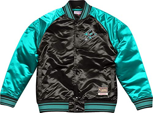 Mitchell & Ness San Antonio Spurs Big Face Colossal Satin Jacket Jacke Collegjacke
