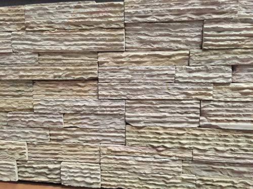 CANU LAJA Mostaza.Cuarcita,se suministra en Piezas de 35x18x2,5 cm. Precio por 1m2. Nuestros Materiales se descargan a pie de Calle.