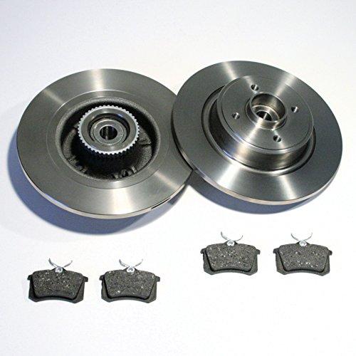 Bremsscheiben 2x ABS Ringe 2x Radlager Beläge für hinten für die Hinterachse*