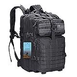 Prospo 40L Military Tactical Shoulder Backpack Assault Survival Molle Bag Pack Fishing Backpack for Tackle Storage (Black)
