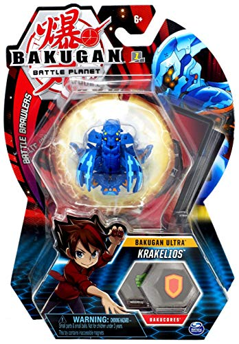 BAKUGAN Ultra, Aquous Krakelios, 3-inch Tall Collectible Transforming Creature, for Ages 6 and Up