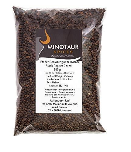 Minotaur Spices   Pepe Nero   Pepe in grani Interi   2 x 500 g (1 kg)