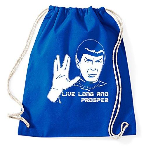Styletex23 #2 Mr Spock Turnbeutel Sportbeutel, Royalblue