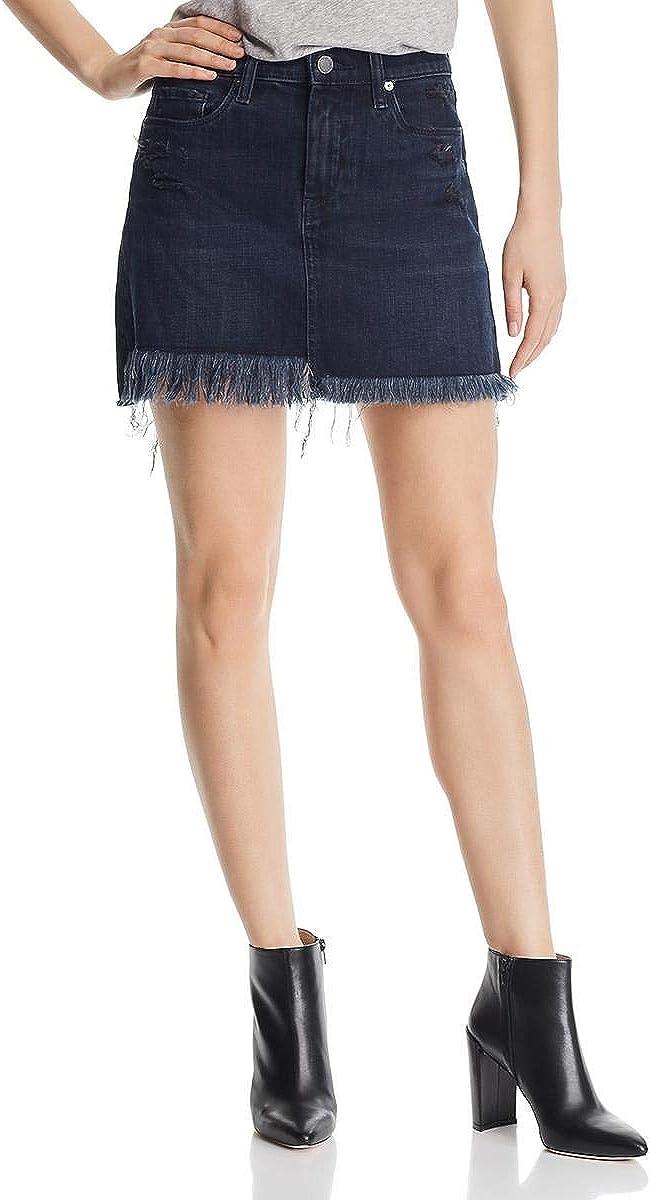 [BLANKNYC] Womens Distressed Casual Denim Skirt