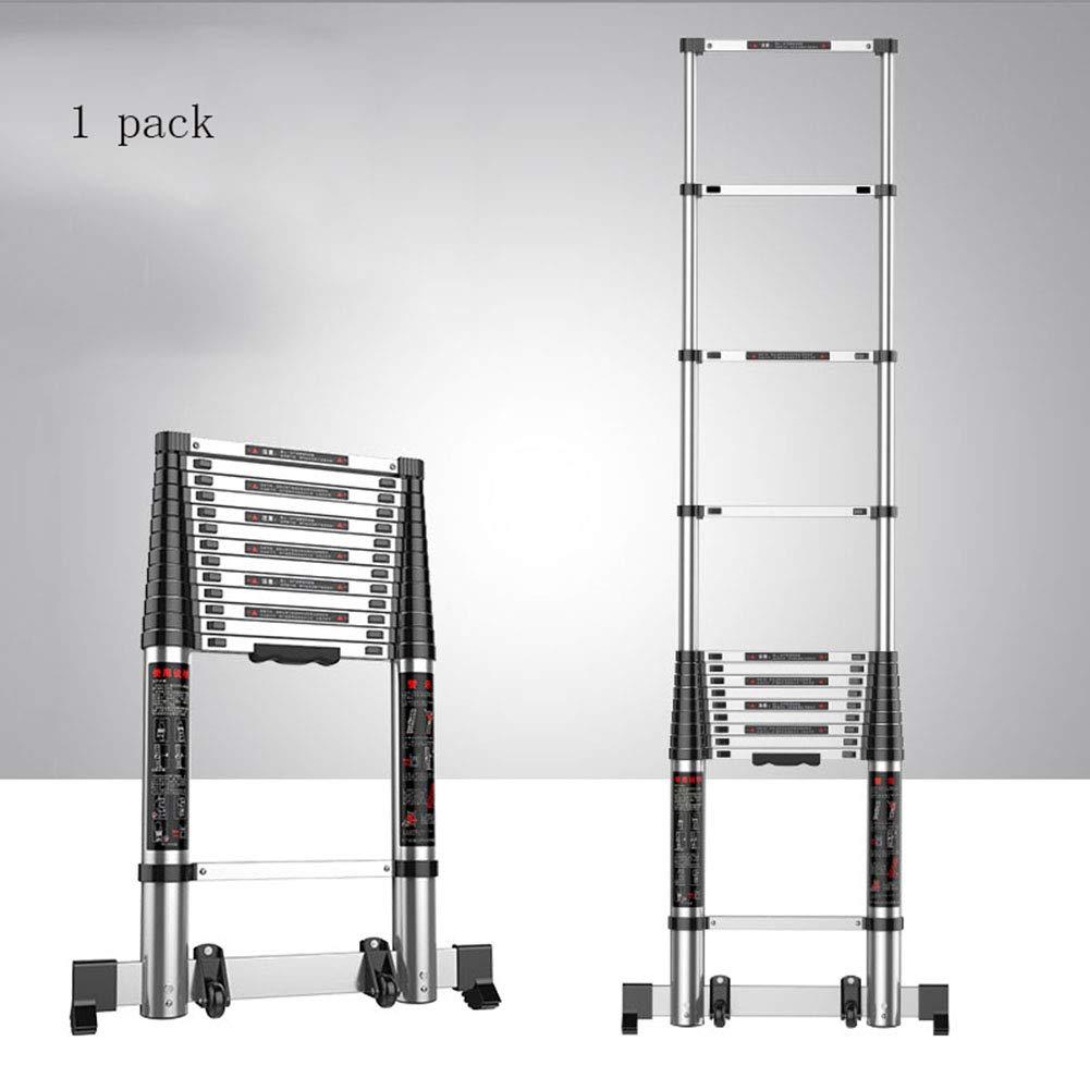 ZWYY Escalera telescópica de Aluminio, extensión multifunción de ingeniería Escalera Vertical portátil para el hogar para Limpieza de Ventanas, Envolvente de Edificios,3.5m: Amazon.es: Jardín