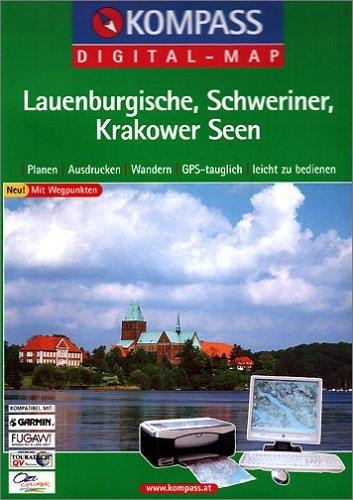 Lauenburgische, Schweriner, Krakower Seen, 1 CD-ROM Planen, Ausdrucken, Wandern. GPS-tauglich. Mit Wegpunkten. Für Windows 95/98/2000/NT/XP