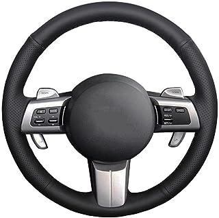 PPIEGER Cubierta de Cuero Negro para Volante de Coche, para Mazda MX-5 Miata 2009-2013 RX-8 2009-2013 CX-7 2007 2008 2009