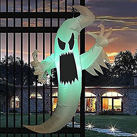 GOOSH 5FT Inflatable Halloween Hunting Ghost Blow Up Yard Decoration Clearance with LED Lights Built-in for Holiday/Party/Yard/Garden