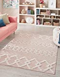 Rugs.com Sabrina Soto Casa Collection Rug – 2' x 3' Pink High Rug Perfect for Entryways, Kitchens, Breakfast Nooks, Accent Pieces