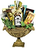 Gift Basket Village Welcome Home - A Housewarming Gift Basket for Homeowners in Decorative Bronze and Seagrass Fruit Bowl