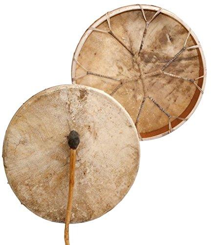 Shamandrum Ø 50 cm Rahmentrommel Rund Rinderhaut - im MYSEVENDO Set - Shaman Drum inkl. Stick