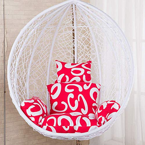 GYWY Hanging Basket Chair Cushion, Swing Cradle Seat Cushion with Pillow, Thicken Egg Nest Hammock Chair Cushion Pad for Home Balcony,J