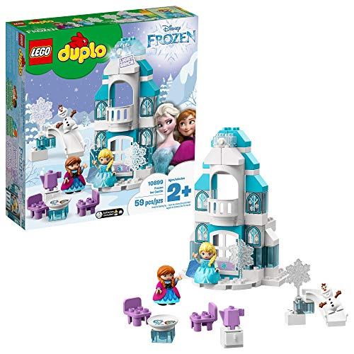 LEGO Disney Princess Elsa's Magical Ice Palace 43172 Toy Castle Building Kit with Mini Dolls, Castle Playset with Popular Frozen Characters Including Elsa, Olaf, Anna and More (59 Pieces)