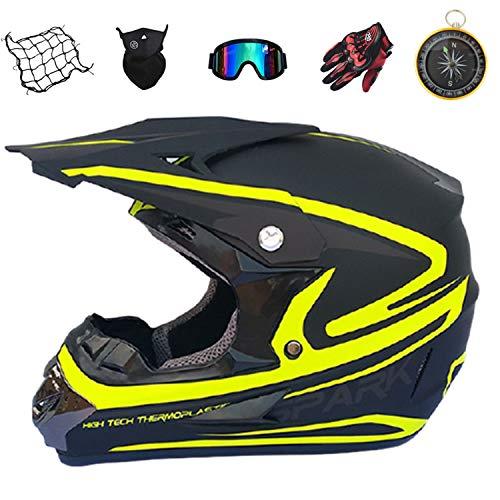 IURIMA Full Face Motorcycle Helmet Off-Road Adult Full Face Dirt Bike Helmet,Youth Motocross BMX MX ATV Dirt Bike Helmet for Men Women DOT Approved ((59-61) S)