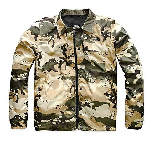 The North Face Men Coach Wind Jacket in Peyote Beige Woodchip Camo Print Size Medium