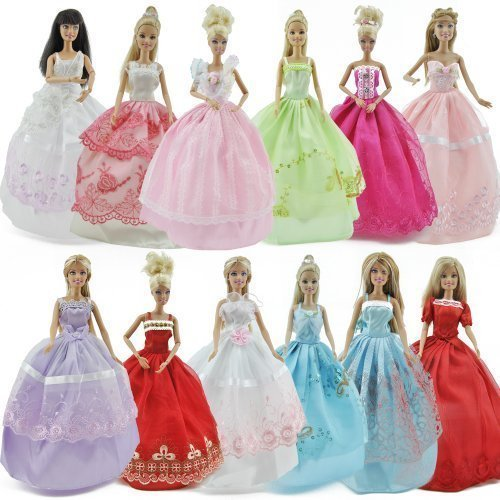 Yiding 5Pc Fashion Handmade Clothes Wedding Dresses Random Delivery and Shoes Grows...