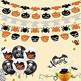 Conjunto de decoración de Halloween, banner de globo de Halloween, globo de látex, utilizado para fiesta de Halloween, bar de Halloween, artículos para el hogar, decoración de cumpleaños para niños